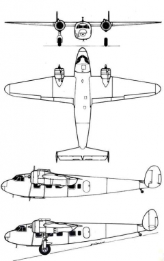 dh95 3v model airplane plan