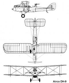 dh9 3v model airplane plan