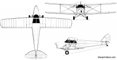 dh 87b hornet moth 2 model airplane plan
