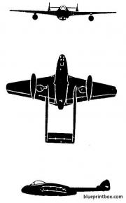 dh dh 100 vampire model airplane plan