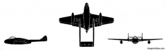 dh vampire fb mk5 model airplane plan