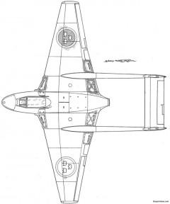 dh vampire j 28 model airplane plan
