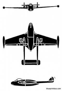 dh venom model airplane plan