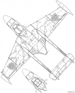 dh venom j 33 3 model airplane plan