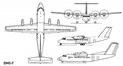 dhc7 3v model airplane plan