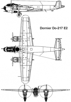 dornier217 3v model airplane plan