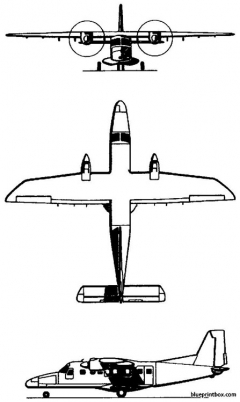dornier do 228 1981 germany model airplane plan