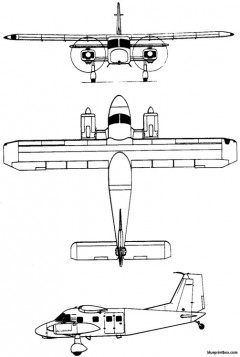 dornier do 28d  do 128 skyservant 1966 germany model airplane plan