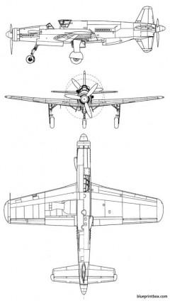 dornier do 335 pfeil model airplane plan