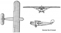 dornier komet 3v model airplane plan