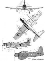 douglas a1j skyraider model airplane plan
