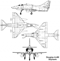 douglas a4m skyhawk model airplane plan