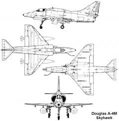 douglas a4m skyhawk model airplane plan