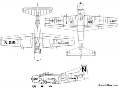douglas a 1 skyraider model airplane plan