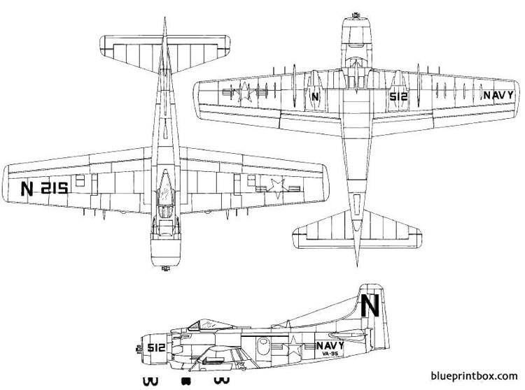 douglas a 1 skyraider model airplane plan