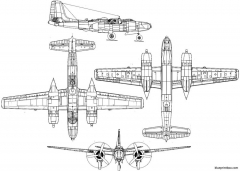 douglas a 26 invader model airplane plan