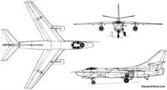 douglas a 3 a3d skywarrior 1952 usa model airplane plan