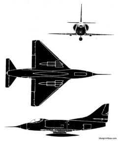douglas a 40 1 skyhawk model airplane plan