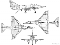 douglas a 4e skyhawk model airplane plan