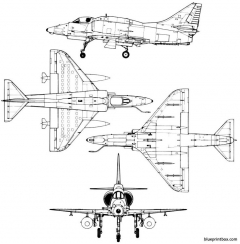 douglas a 4m skyhawk model airplane plan