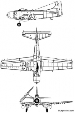douglas ad 2 skyraider model airplane plan