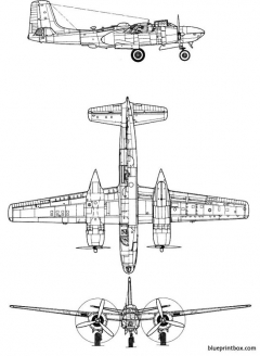 douglas b 26 invader model airplane plan