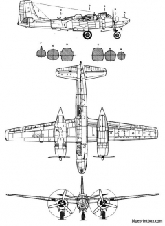 douglas b 26 invader 2 model airplane plan