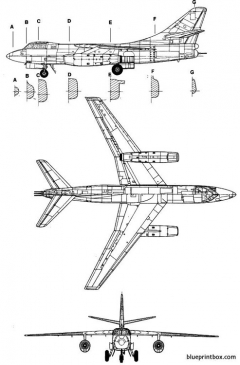 douglas b 66 destroyer 3 model airplane plan