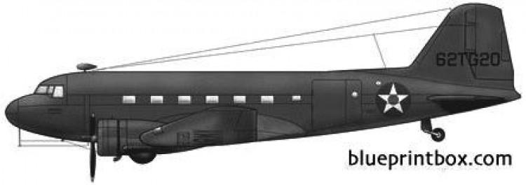 douglas c 39 model airplane plan