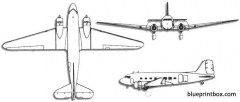 douglas c 47 skytrain dakota model airplane plan