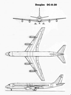 douglas dc8 3v model airplane plan