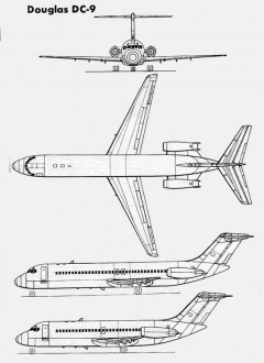 douglas dc9 3v model airplane plan