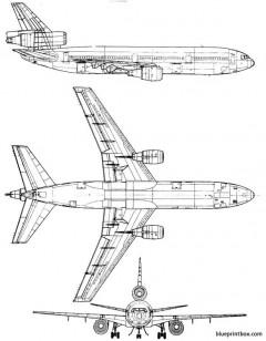 douglas dc 10 model airplane plan