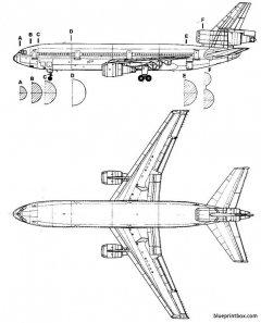 douglas dc 10 2 model airplane plan