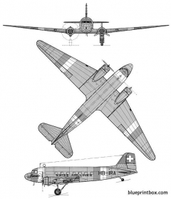 douglas dc 3 model airplane plan