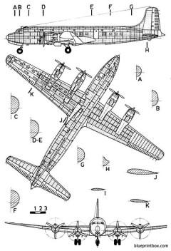douglas dc 6 model airplane plan