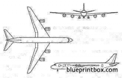 douglas dc 8 model airplane plan