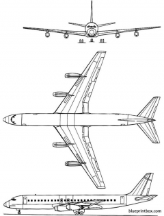 douglas dc 8 30 model airplane plan