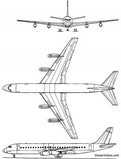 douglas dc 8 30 model airplane plan