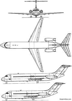 douglas dc 9 model airplane plan