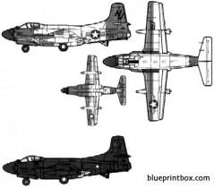 douglas f3d 2 skyknight model airplane plan