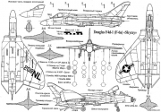 douglas f4d skyray 2 model airplane plan