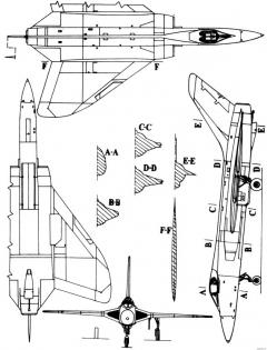 douglas f5d skylancer model airplane plan