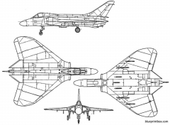 douglas f 4d skyray model airplane plan