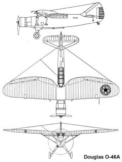 douglas o46 3v model airplane plan