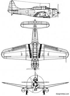 douglas sbd dauntless model airplane plan