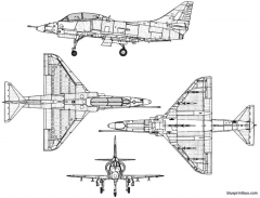 douglas ta 4f skyhawk model airplane plan