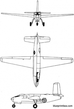douglas xb 43 1946 usa model airplane plan