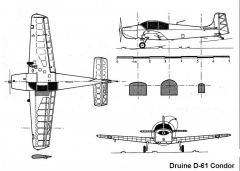 druine condor 3v model airplane plan