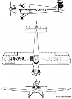druine d 31 turbulent model airplane plan